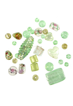 www.sayila.com - BudgetPack Mix glass beads ± 8mm-18mm