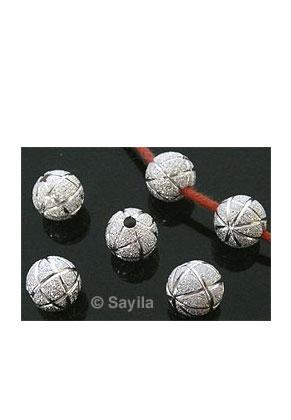 www.sayila.com - Metal bead round decorated stardust 8mm