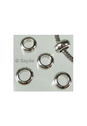 www.sayila-perlen.de - Kunststoffperle Metall look Rondelle ± 10x5mm (Loch ± 6mm)
