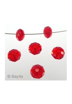 www.sayila.fr - Rondelle de cristal avec facettes ± 6x4mm