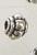www.sayila.com - Metal bead roundel decorated ± 5x3,5mm