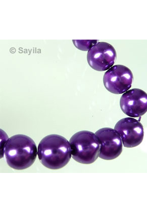 www.sayila.com - Glass pearl transparent 7-8mm