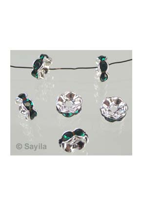 www.sayila.com - Strass roundel with crystal 10mm
