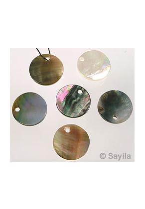 www.sayila-perlen.de - Muschelperle Anhänger rund ± 13mm