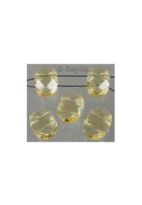 www.sayila-perlen.de - Glasperle Kristall oval facette mit 2 Löcher ± 15x11x6mm