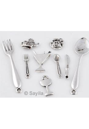 www.sayila.es - BudgetPack Mezcla, colgante/dije de metal, servicio ± 13x11mm-55x9mm