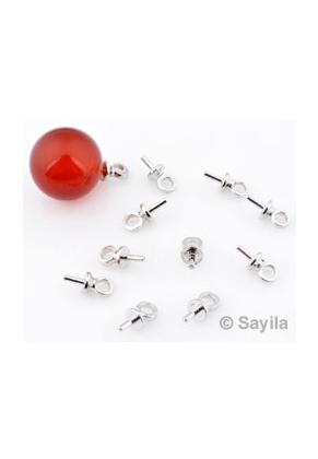www.sayila.nl - Pin met oogje ± 7x3mm voor plaksteen/kralen met halfgeboord gat (pin ± 3x0,85mm)