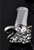 www.sayila.nl - Zilveren klemmetje (925 zilver) met strass voor hanger/bedel/kraal, zwaan ± 13x10x11mm