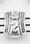 www.sayila.com - Metal bead divider, 3 holes decorated ± 11x8mm