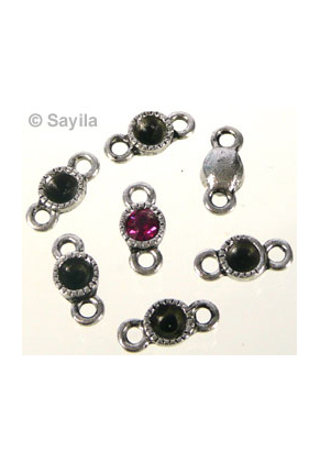 www.sayila.com - Metal charm/connector round ± 10x5mm for pointed back round ± 5mm (suitable for SWAROVSKI PP24 pointed back)