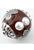 www.sayila-perlen.de - Metallperle kashmiri rund Handgemacht mit Polymerton (Knete), verziert ± 19mm