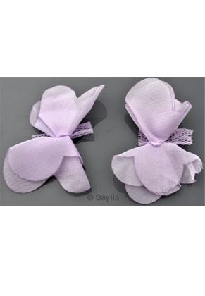 www.sayila.es - Flor de material textil para ensartar, coser etc. ± 62x46mm