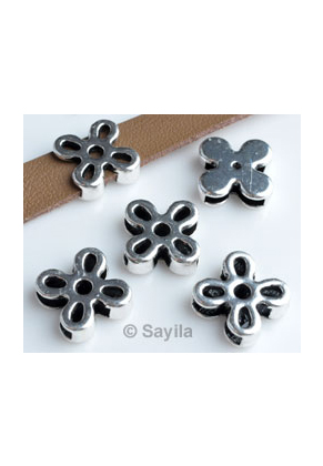 www.sayila.nl - Metalen schuifkraal bloem ± 13x5mm (gat ± 10x2mm)