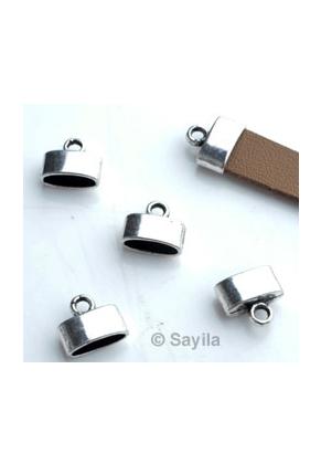 www.sayila.com - Metal cap for lace etc. ± 12x10mm (hole ± 10x3,5mm)