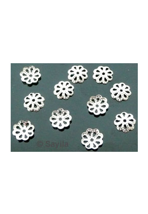 www.sayila.com - BudgetPack Metal filigree cap ± 7mm (± 145 pcs.)