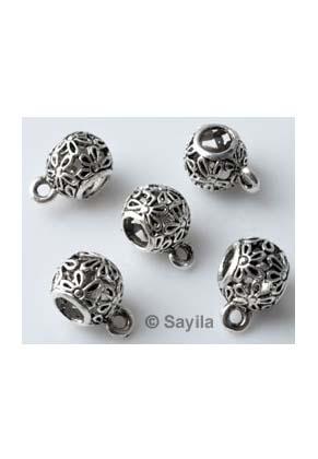 www.sayila.es - Estilo agujero-grande cuenta de metal separador decorado, con ojo ± 14x10mm (hueco ± 5mm)