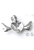 www.sayila.es - Colgante/dije de metal corazón con alas Rhodium Plated ± 24x18mm para imitación de diamante corazón ± 11x10mm (apropriado por Swarovski 4831 ± 11x10mm imitaciónes de diamantes)