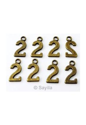 www.sayila.es - Colgante/dije de metal, cifra 2 ± 15x7mm