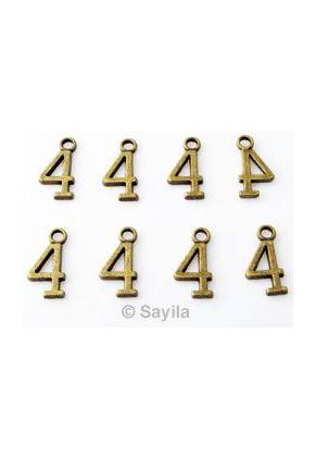 www.sayila.es - Colgante/dije de metal, cifra 4 ± 15x7mm