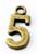 www.sayila-perlen.de - Metall Anhänger Ziffer 5 ± 15x7mm