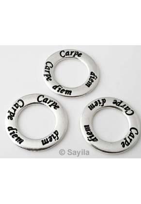 www.sayila.es - Colgante/conector de metal anilla decorado