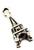 www.sayila-perlen.de - Metall Anhänger Eiffel Turm 3D ± 17x7mm (Loch ± 2mm)