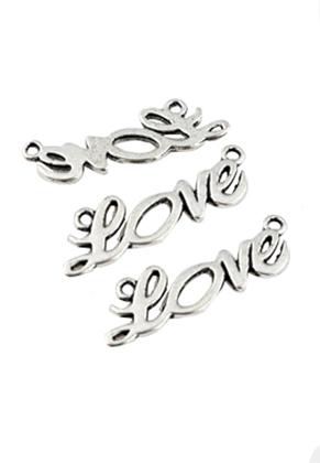 www.sayila.com - Metal pendant/connector 'love' ± 34x10mm (hole ± 2mm)