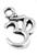 www.sayila-perlen.de - Metall Anhänger Glück Symbol Omkar 15x10mm