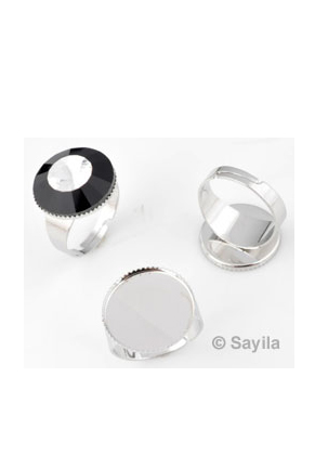 www.sayila.com - Metall finger ring >= ± 19mm (adjustable size) for rhinestone flatback round ± 18mm