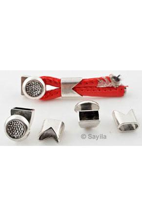 www.sayila-perlen.de - Metallverschluß ± 28,5x11,5mm (Loch ± 9,5x5mm)