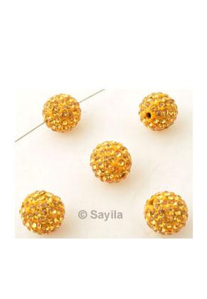 www.sayila.com - Polymer clay bead round with strass ± 10mm (hole ± 1,5mm)