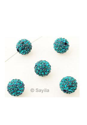 www.sayila.nl - Polymeerklei kraal rond met strass ± 10mm (gat ± 1,5mm)