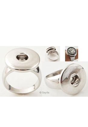 www.sayila.nl - Brass vingerring (messing) rhodium plated ± 18mm (geschikt voor EasyButtons maat L )