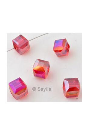 www.sayila.nl - Facetkralen kristal glas kubus ± 9mm