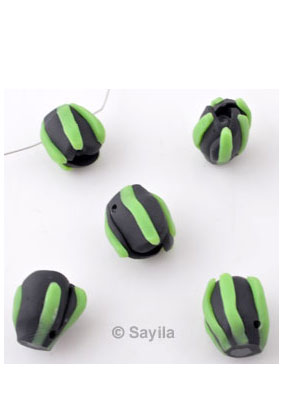 www.sayila.nl - Polymeerklei kraal bloemknop ± 16x14mm (gat ± 2mm)