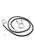 www.sayila.be - DoubleBeads EasyClip Halsketting van imitatie leer ± 63,5cmx3mm met metalen ring sluiting ± 25mm, ± 3,5mm dik
