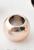 www.sayila-perlen.de - Großloch-Stil Kunststoff perle Metall look rund ± 12x9mm (Loch ± 7mm)