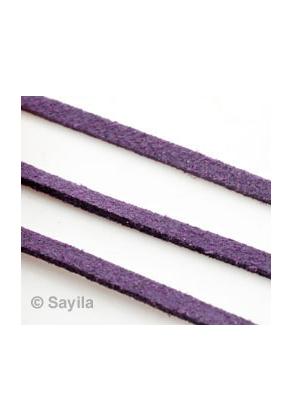 www.sayila.com - Imitation suede lace ± 95cm, 2x1mm