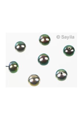 www.sayila.nl - Echte zoetwaterparel ± 4,5-5x5-6mm met halfgeboord (gat ± 1mm)