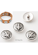 www.sayila.com - Brass DoubleBeads EasyButton/press stud, flower ± 18x9mm (suitable for EasyButton jewelry size: L) - 31358
