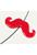 www.sayila.nl - Kunststof kraal snor ± 20x17,5mm (gat ± 1,7mm)