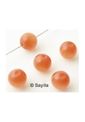 www.sayila-perlen.de - Glass perle rund, cateye ± 8x7,5mm (Loch ± 1,2mm)
