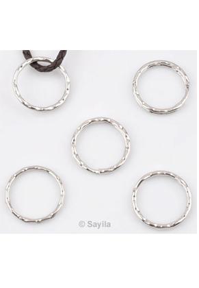 www.sayila.nl - Metalen sleutelhanger ring, rond bewerkt ± 26mm