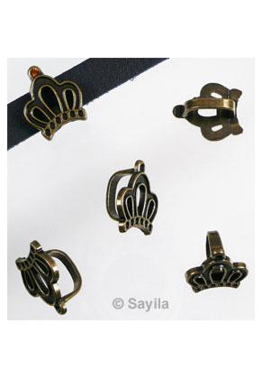 www.sayila.nl - Metalen schuifkraal kroon ± 19x16mm (gat ± 11x8mm) voor similisteen rond ± 2mm (geschikt voor Swarovski PP14 similisteen)