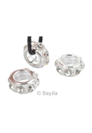 www.sayila.com - Brass bead roundel with strass ± 26x11mm with large hole (hole ± 13,5mm) - 32515