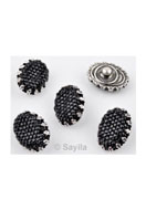 www.sayila.com - Metal EasyButton/press stud with synthetic flatback, oval ± 20x15mm (suitable for EasyButton jewelry size: S) - 32668