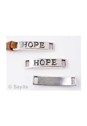 www.sayila.com - Metal pendant/connector 'hope' ± 28x6mm (eyes ± 4x1,7mm)