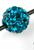 www.sayila.com - Polymer clay bead round with strass ± 8mm (hole ± 1,7mm)