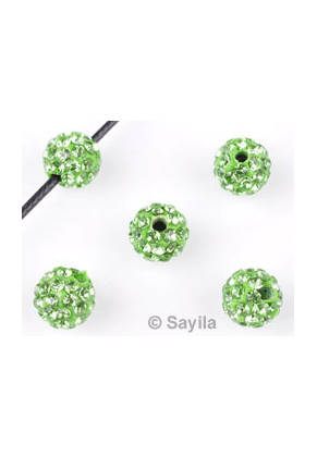 www.sayila.com - Polymer clay bead round with strass ± 8mm (hole ± 1,7mm)