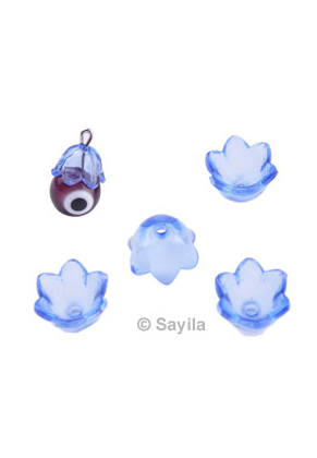 www.sayila.com - Synthetic bead cap flower ± 9,5x6,5mm (hole ± 1,5mm)